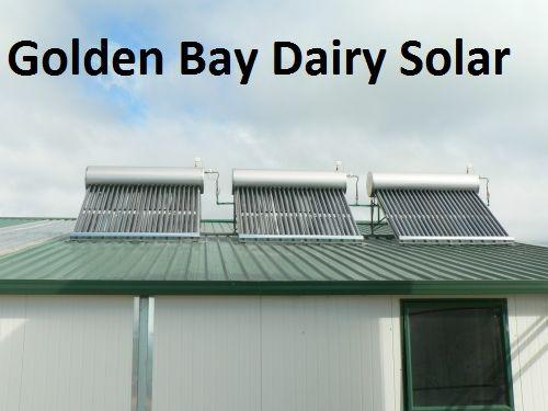 Using solar hot water in the milking shed reduce your hot water costs.
