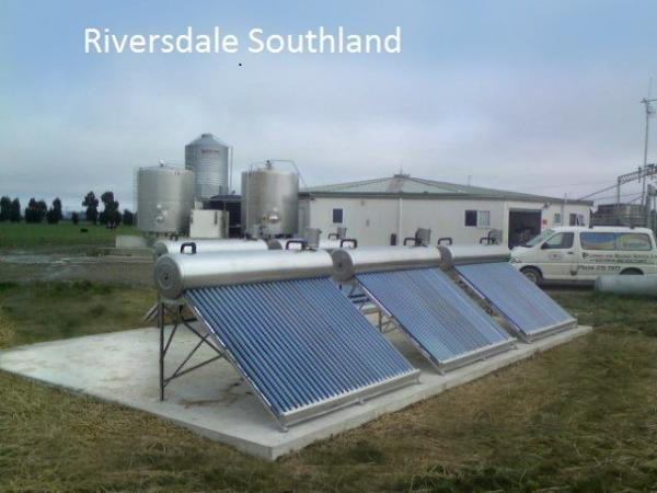 Environmentally friendly hot water for the milking shed, Riversdale, Southland